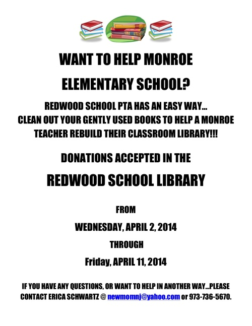 Book Drive to Support Monroe Elementary